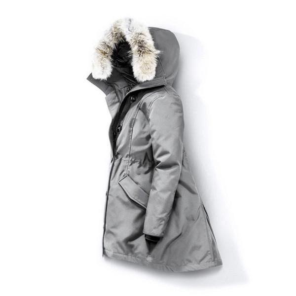 Lobo Fur Mulheres Winter jaqueta corta-vento Clothes Womens 2019 Luxury Designer Jacket Jaquetas de Down Parka Bomber Coats Doudoune Femme E40