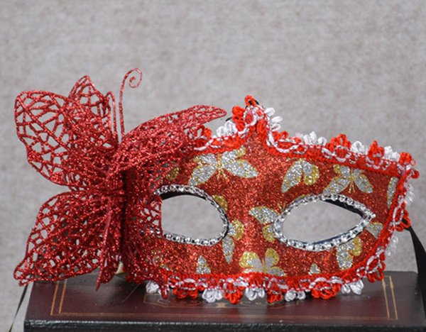 2019 Wedding Party Painted Princess Party Mask Christmas Butterfly Mask Halloween Masquerade Lady party Decorative mask