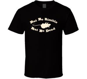 Yeni Bob 039 s Sıçan Çevik Olabilir Sıçan Ölü Olabilir Komik Erkekler 039 s T Gömlek Boyut S 2XL