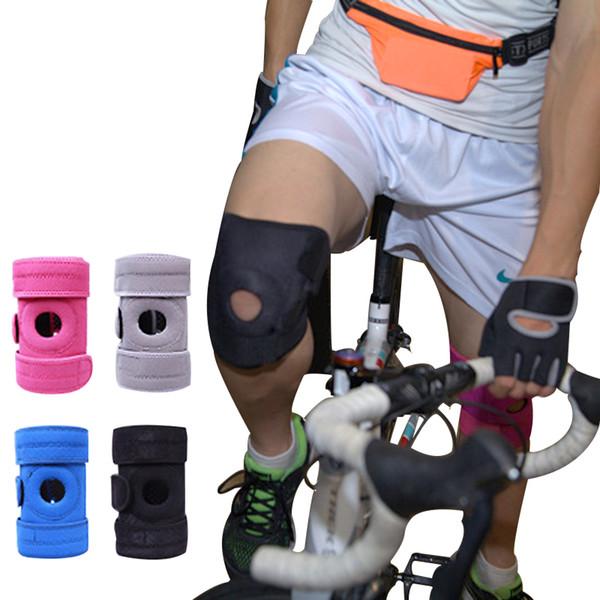 Колено Спортивная Безопасность Protector Тренажерный Зал Knee Protector Brace для Тренировки Спорт На Открытом Воздухе Танцы Гибкие Колодки P0
