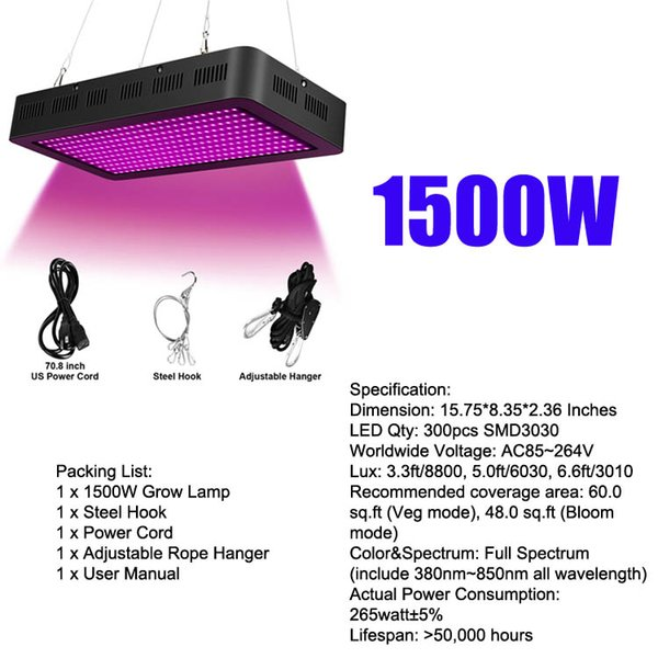 1500W SMD3030 LED wachsen