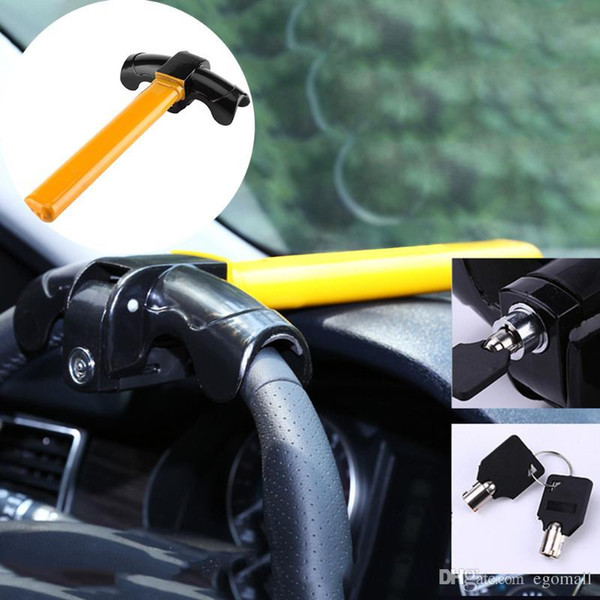 Car Steering Wheel Lock Universal Anti-Theft Car Van Security Rotary Type T Lock for Car's safe