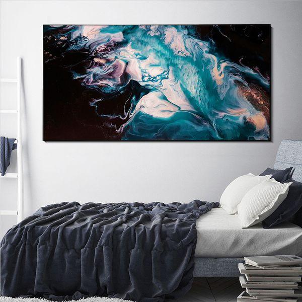 Großhandel Große Leinwand Wandkunst Blue Sea Beach Leinwand Malerei Mordern  Abstrakte Meerblick Leinwand Poster Für Wohnzimmer Schlafzimmer Dekoration  ...