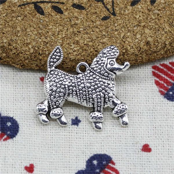 Wholesale- 61pcs Charms war dog 29*27mm Pendant,Tibetan Silver Pendant,For DIY Necklace & Bracelets Jewelry Accessories