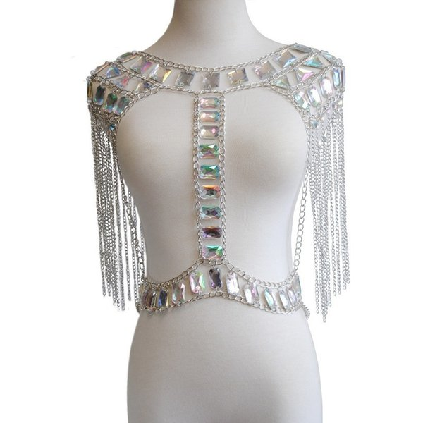 Silver bra