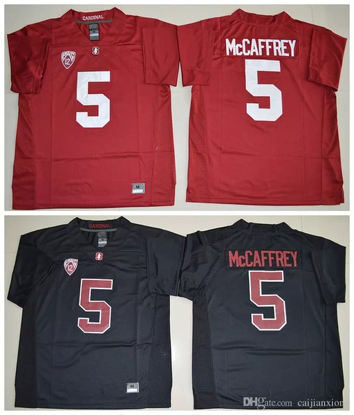 5 Christian McCaffrey Jersey 2016 New Mens Season Stanford Cardinal Jerseys High Red Black Stitched College Football Jerseys Size M-XXXL