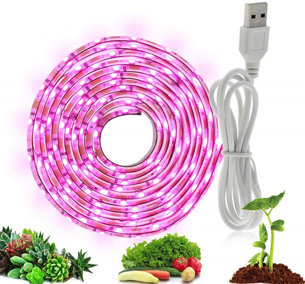 LED Grow Light Full Spectrum plante pousse lumière de bande USB 5 V 2835 SMD lampe flexible pour intérieur fleur plante Seedling