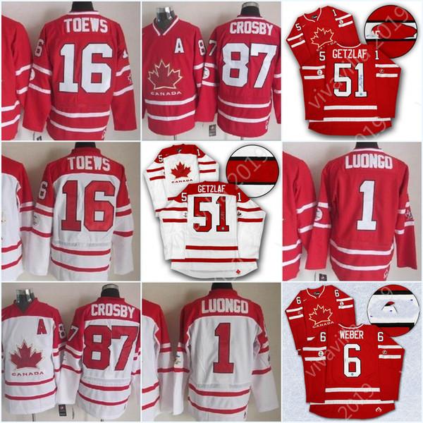 87 Sidney Crosby 2010 Équipe Canada Olymp Jersey 31 Carey Price 19 Jonathan Toews 12 Jarome Iginla 61 Rick Nash 1 Luongo Rouge Blanc Hockey