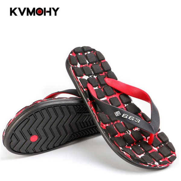 Mens Shoes Flip Flops Summer Beach Activity Sandals Flip Flop for Men Casual Slippers Fashion Slides Camouflage Square Massage