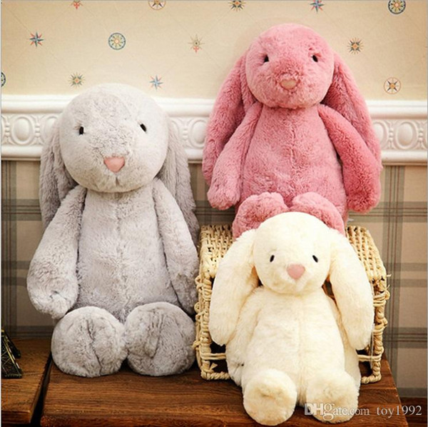 best selling Easter Bunny 12inch 30cm Plush Filled Toy Creative Doll Soft Long Ear Rabbit Animal Birthday Gift