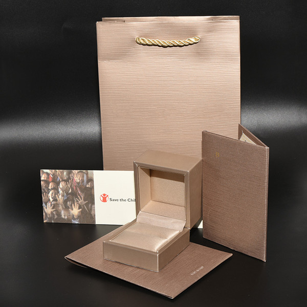 Luxury Brand Jewelry Charitable Original Packaging Boxes set Paper Bags certificate Wedding Ring Gift Box set