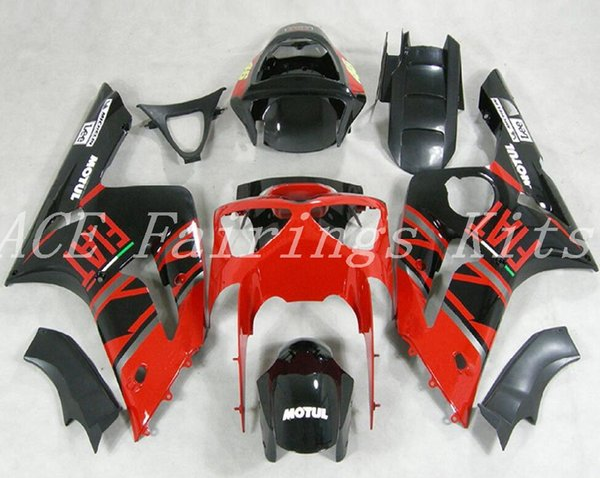 Yüksek kalite Yeni ABS motosiklet marangozluk kawasaki Ninja ZX6R için fit 636 ZX-6R 2003 2004 03 04 kaporta kitleri siyah kırmızı FIAT