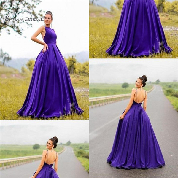 2019 Halter Backless With Beads Sweep Train Sleeveless High End Quality Evening Party Dress Hot Sales