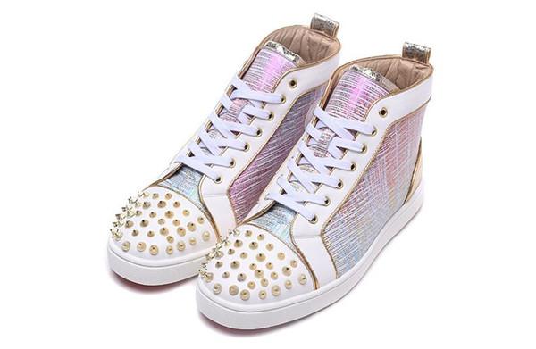 Moda yeni perçin erkekler ayakkabı Avrupa ve Amerikan rahat lace up düz ayakkabı erkek sihirli renk