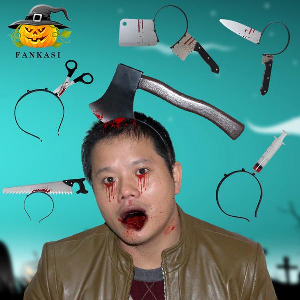 Хэллоуин прокалывания нож вилка нож игла ствол ножницы увидел кровавый макияж мяч ужасные пластиковые украшения