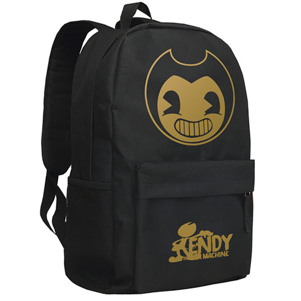 Bendy and the Ink Machine Backpack for Children Gifts for School Bag Boys Girls Bookbag