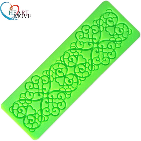 New Lucky Clouds Silicone Cake Fondant Mould Flower Lace Mold Sugar Craft Wedding Decorating Tool Heart Shape Lace Silicone Mold