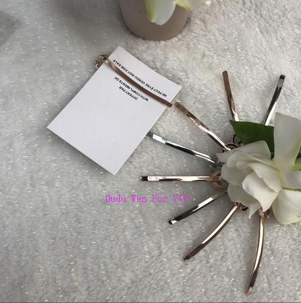 2019 moda negro o blanco C metal pinzas para el cabello de lujo accesorios para el cabello de aleación diseñador de moda bobby pin con tarjeta de papel regalo VIP