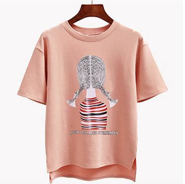 2019 nuova arrivata nuova T-shirt allentata estate T-shirt da donna versione coreana pullover da donna a maniche corte T-shirt da donna camicia calda