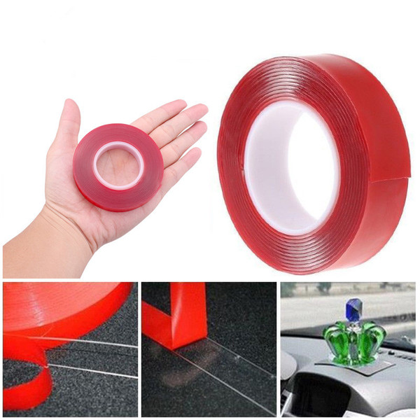 best selling 300cm Transparent Silicone Double Sided Tape Sticker For Car High Strength High Strength No Traces Adhesive Sticker Living Goods