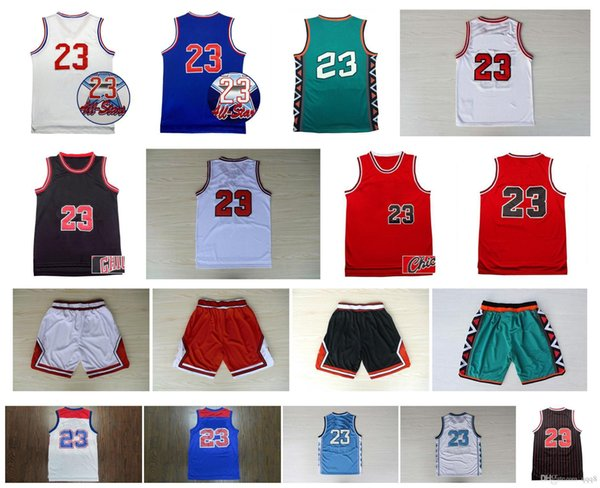 top popular Top Quality ! North Carolina College 23 Michael Jersey Vintage Basketball College 96 All Star Retro Basketball shorts Sportswear Jersey 2020