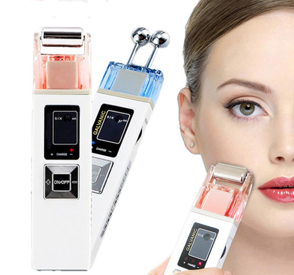best selling Microcurrent Facial Massage Lift Tool Iontophoresis Skin Firming Machine Iontophoresis SPA Salon Beauty Tool free shipping