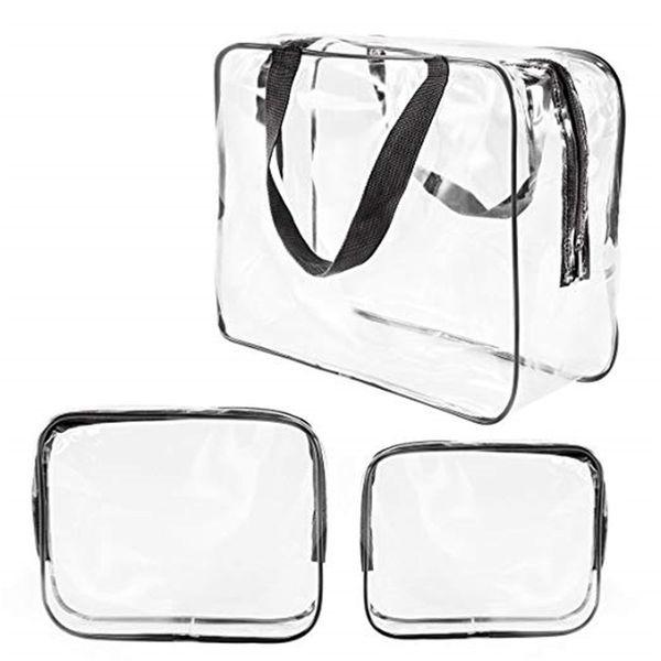 Transparente PVC impermeável sacos de viagem Organizador composição desobstruída Bag beautician beleza Caso de Higiene Pessoal saco de armazenamento Diaper Pencil Pouch Wash Bolsas