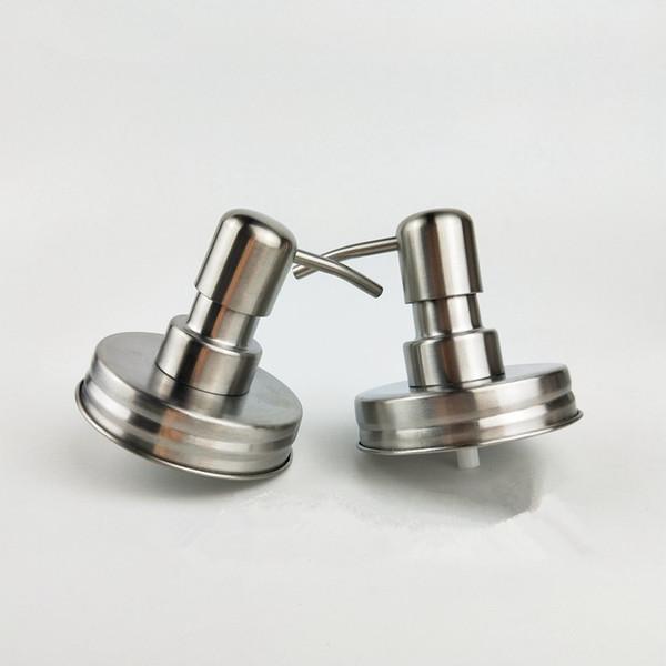 Dispensador de jabón a prueba de óxido de acero inoxidable Mason Jar - Bomba de jabón de granja rústica para Mason Jar Decor (Jar no incluido)