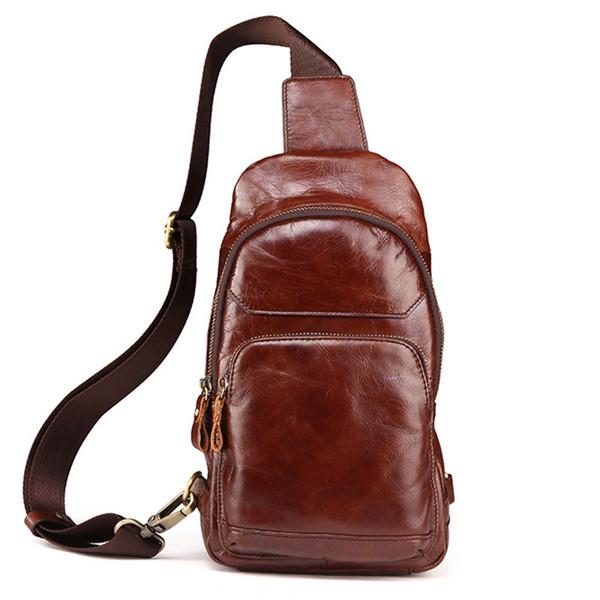 BOLEKE мужская винтаж из натуральной кожи дорожный повседневный сундук с маслом восковая кожа слинг через плечо сумки на одно плечо коричневый Messen