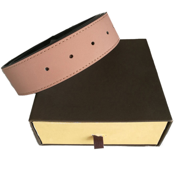 best selling TOP men belts women high Quality Genuine Leather Business Belts Womens Big Gold Buckle with Box Mens Casual Belt free shipping