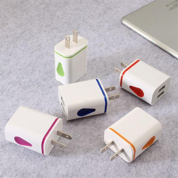 Отличное качество зарядное устройство 2USB капли воды светодиодное зарядное устройство Смартфон универсальный капельное зарядное устройство мобильного телефона