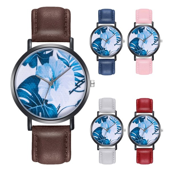 Precise Quartz Movement Real Leather Strap Watch No Reflection Young Girl Watches