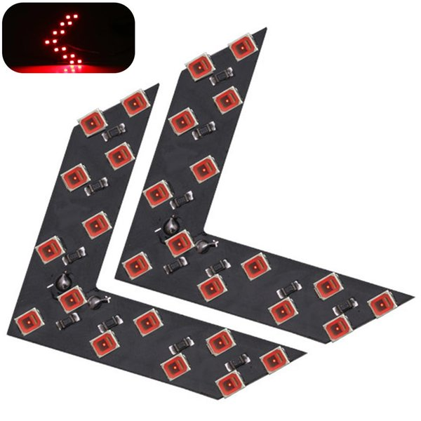1 Pair 12V Rear View SMD LED Turn Signal Light Car Drivering High Brightness Truck Scooter Indicator Arrow Panel Motorcycle