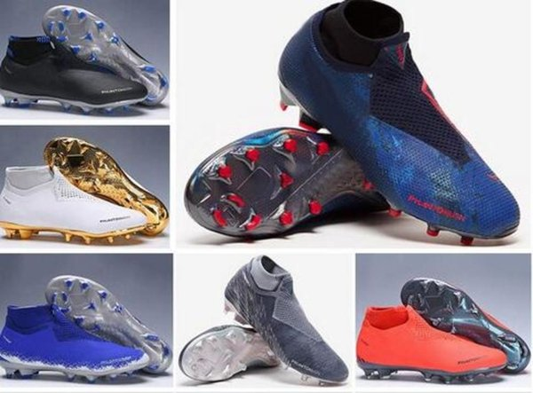 Mens New High Ankle Football Boots Fully Charged Phantom Vsn Elite Fg Soccer Shoes X Psg Ea Sports Phantom Vision Fg Soccer Cleats