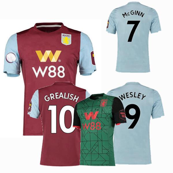 2019 2020 Aston villa Soccer Jerseys KODJIA WESLEY HOGAN GREALISH home away 3rd 19 20 football shirt S-2XL
