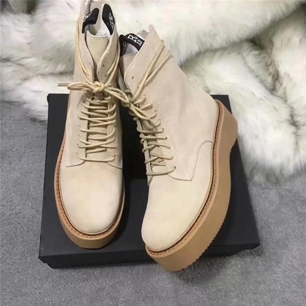 Compre 2019 Botas Martin De Cuero Genuino Con Cordones Botines Cortos Para Mujer Gladiator Zapatos De Mujer Tobillo Diseñador Europeo De Alta Calidad