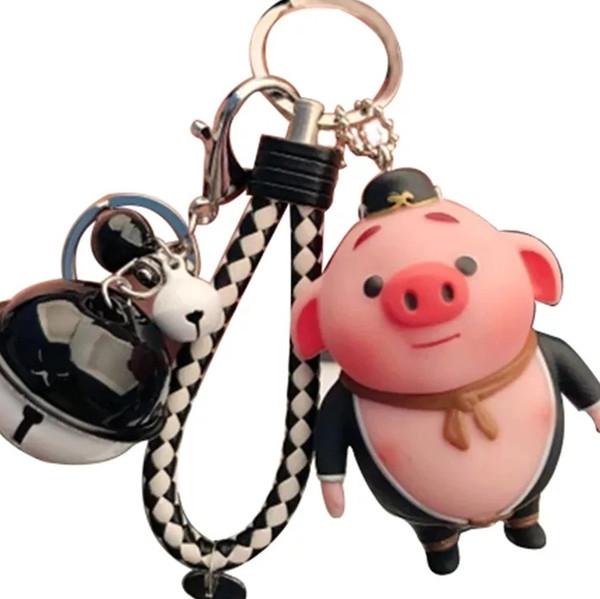 Korean cartoon plush key chain female male creative car key chain ring ring lovely couple bag key pendant