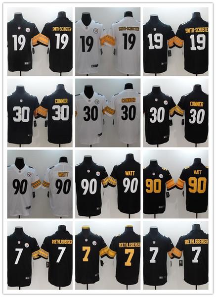 release date 93f75 3e9f8 2019 Men'S Women'S Youth Pittsburgh 19 JuJu Smith Schuster 90 T.J. Watt  Vapor Untouchable Color Rush Custom Football Jerseys Steelers From  Custom10, ...