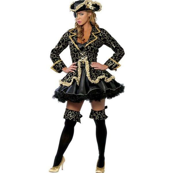 Europe America Ms Sexy Caribbean female pirate Clothing womens Halloween apparel Game uniform cosplay dresses woman party night