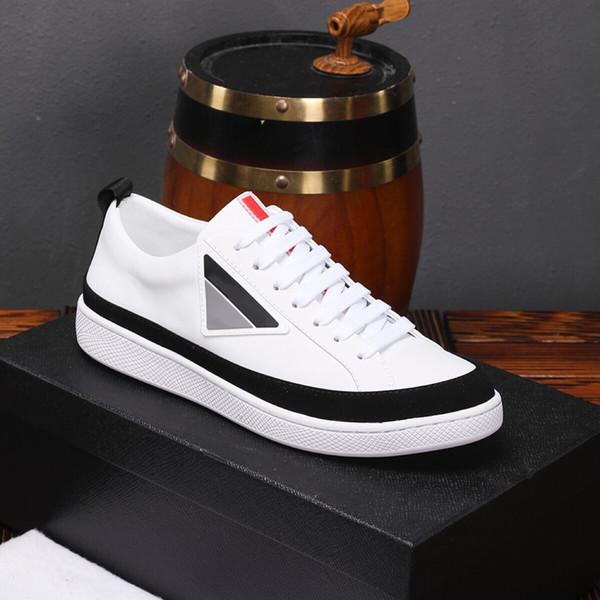 Tasarımcı Rahat Ayakkabılar Erkekler için Geometrik Marka Moda Sneakers Lace Up Lüks Elbise Kutusu ile 9962CE En Kaliteli İlkbahar Sonbahar Ayakkabı