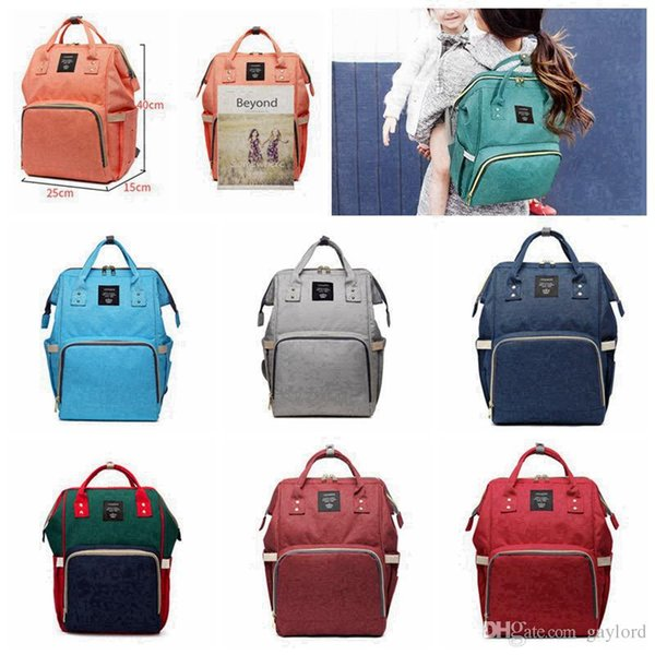 14 Colors New Multifunctional Baby Diaper Backpack Mommy Changing Bag Mummy Backpack Nappy Mother Maternity Backpacks 20pcs H02g