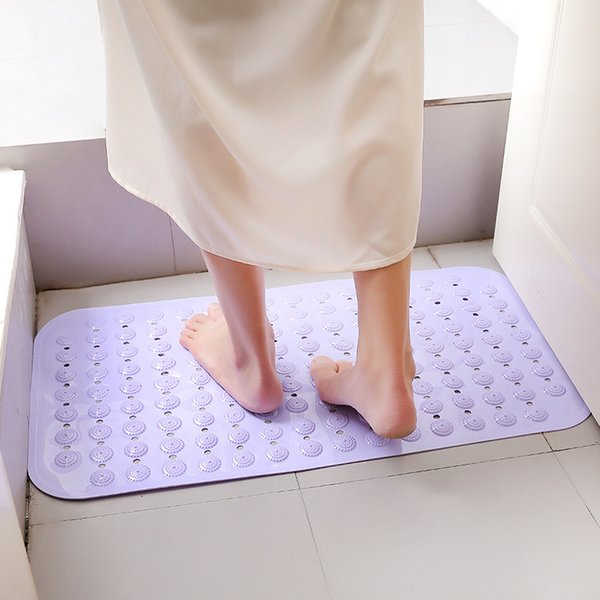 38*71cm Bathroom Bath Mat Bathtub Mats Non-Slip Mildew Resistant Anti-Bacterial Shower Mat Suction Cup Gripping Bath Mats