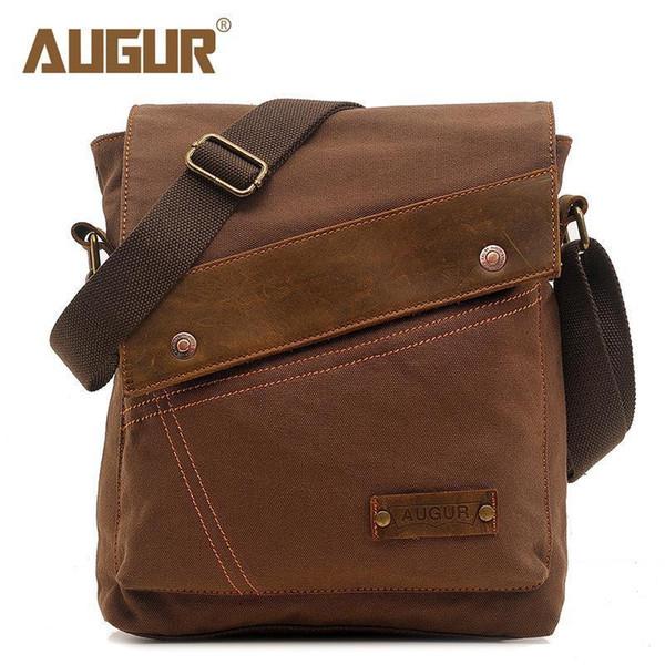 Augur Brand Nice Casual High Quality Flap Bags Men Canvas Shoulder Bags Boy Messenger Handbags For Travel