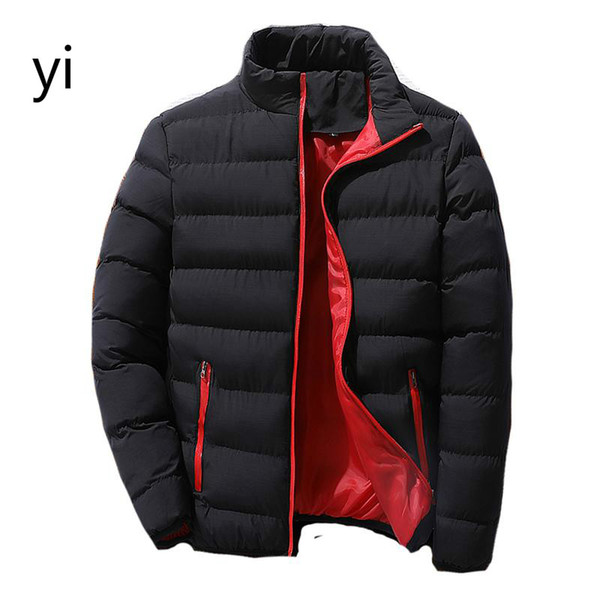 yi 2019 New Cotton Padded Thick Jacken Parka Slim Fit Langarm-Oberbekleidung Kleidung Warme Mäntel