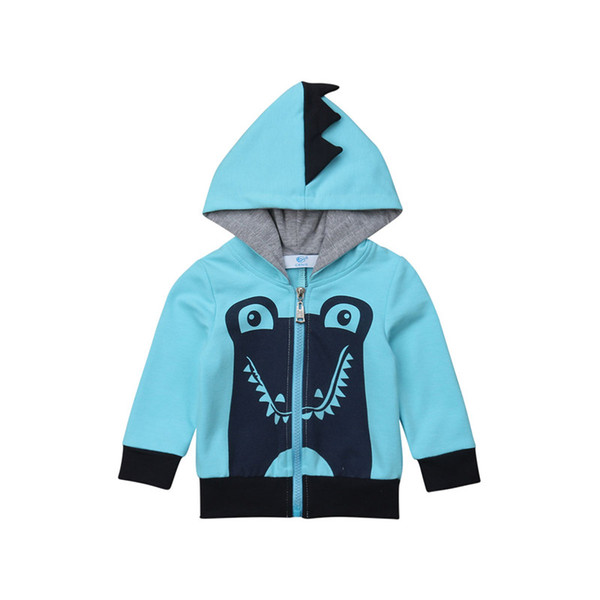 Kinder Baby Mädchen Junge Shark Langarm Hoodie Mantel Mit Kapuze Zip Up Sweatshirt Herbst Winter Baumwolle Jungen Mädchen Kleidung Outwear