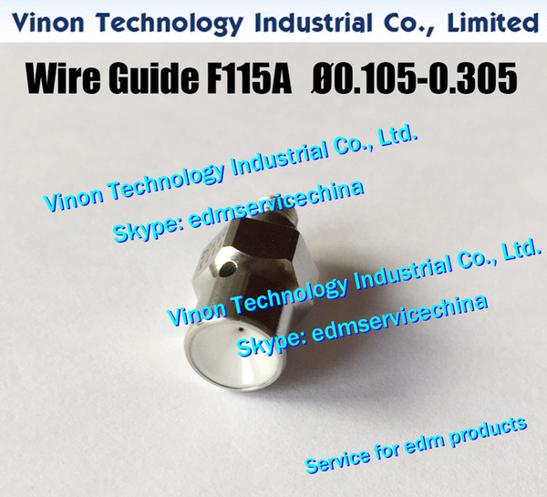 F115A Ø0.155 Wire Guide Lower A290-8104-Y714 for Fanuc Level Up(iD2),iE,0iC edm lower diamond guide d=0.155mm A2908104Y714, A290.8104.Y714