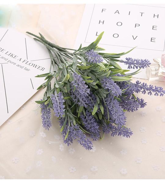 Romantisches Provence Dekoration Lavendel Blume Seide künstliche Blumen Korn dekorative Simulation von Wasserpflanzen