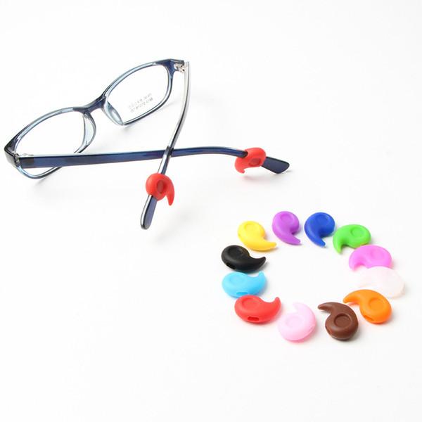 Mini Óculos de Orelha Ganchos Macio e Confortável de Silicone Anti-Slip Titular para Óculos Esportes Óculos de Óculos Acessórios Cor Aleatória