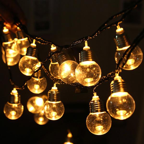 Lâmpada 110V 20 LED Luz Bola de corda de Luzes Para Quarto Wedding Party Xmas # 30