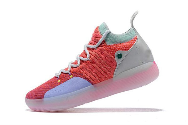 Kevin Durant 11 Basketball Shoe Designer Shoes Zoom Off Men Kd 11s Running Athletic Shoe White Red Luxury Kd Ep Elite Low Sport Sneakers
